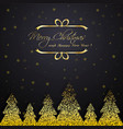 shiny golden winter trees vector image vector image