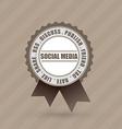 social badge label vector image