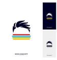 social geek color logo concept colorful geek vector image