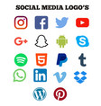 social media icon vector image vector image