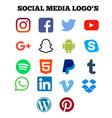 social media logo vector image vector image