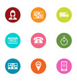 steer icons set flat style vector image vector image