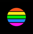 sun logo colorful stripes symbol sun vector image vector image
