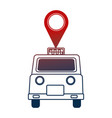 taxi service public pin map location vector image