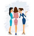 three cheerful gossiping women vector image