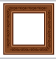 vintage retro frame with foliage vector image