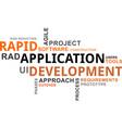 word cloud - rapid application development vector image vector image
