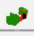 zambia map flag vector image