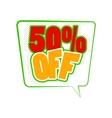50 percent off comics icon vector image