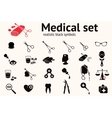 Medical icons set Health and medicine tool vector image