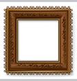 retro vintage wooden frame vector image