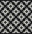 seamless pattern abstract black and white texture vector image
