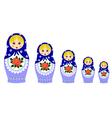 Traditional matryoschka dolls vector image