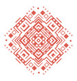 ethnic geometric decorative pattern ornament vector image