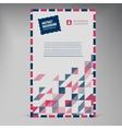 Flat UI banner Color envelope vector image