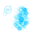 Hexagon background design element vector image