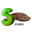 A letter S for snake vector image