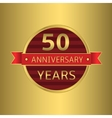 Anniversary 50 years vector image