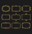art deco frames gold set decorative ornamental vector image