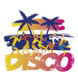 beach disco party dancers vector image
