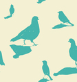 birds on the ground seamless pattern vector image vector image