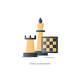 Chess debut tournament event chess club strategy vector image vector image