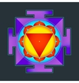 colored Tara yantra vector image vector image