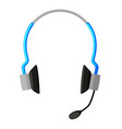 colorful cartoon wireless headset vector image vector image