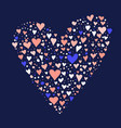 different color hearts forming one heart vector image vector image