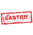easter Red grunge rubber stamp vector image vector image