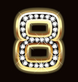 Eight bling vector image