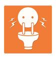 electric plug symbol vector image vector image