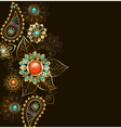 Ethnic Gold Pattern vector image vector image