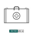 first aid icon outline style eps 10 vector image vector image