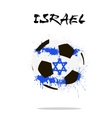 Flag of Israel as an abstract soccer ball vector image vector image