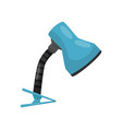 flat icon of flexible clip table lamp with vector image