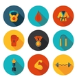 flat icons of martial arts vector image vector image