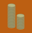 flat shading style icon stacks of coins vector image