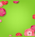 flower green card vector image vector image