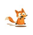 Fox Running Away vector image vector image