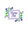 frame text original design elegant floral badge vector image vector image
