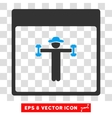 Gentleman Fitness Calendar Page Eps Icon vector image vector image