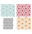 geometric line style patterns vector image vector image