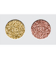 glitter eyeshadow tinsel shimmer lipstick or vector image vector image