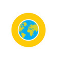 globe earth planet - concept icon in flat graphic vector image vector image