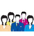 group of the mans and womans vector image vector image