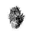 grunge imprint of human finger simple black icon vector image