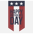Happy Presidents Day vintage Label with Text vector image vector image