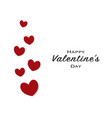 happy valentines day greeting card with black vector image vector image