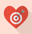 Heart with target vector image